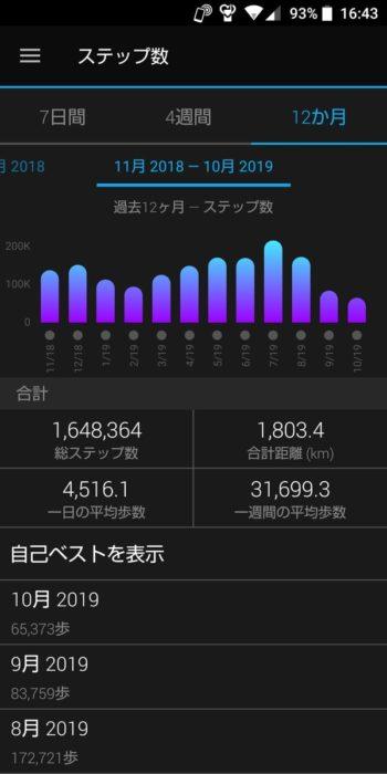 GARMIN ForeAthlete 230J グラフ
