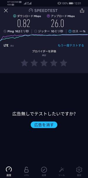 LINEモバイル 速度(昼)