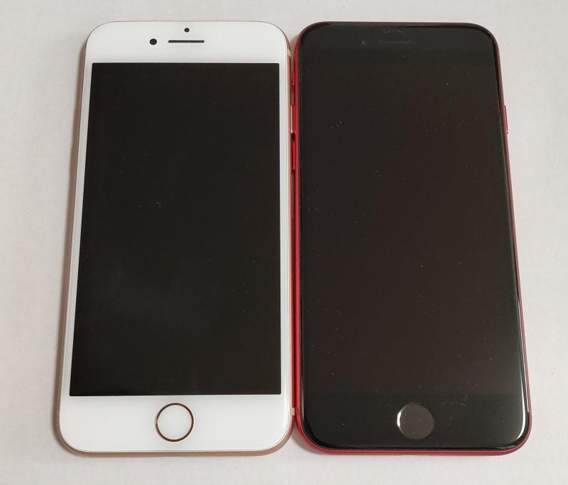 新型iPhone SEとiPhone 8