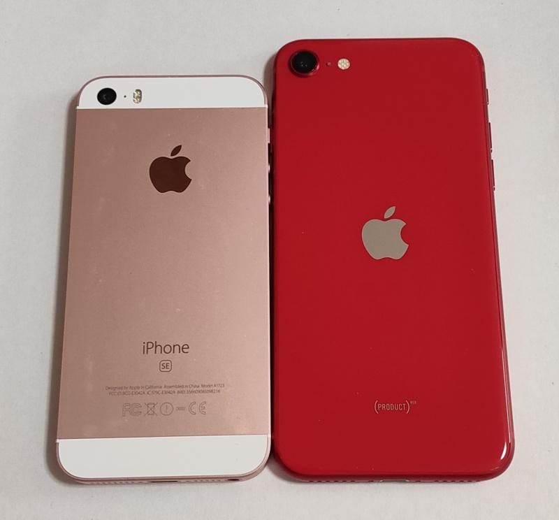 新型iPhone SEと初代iPhone SE