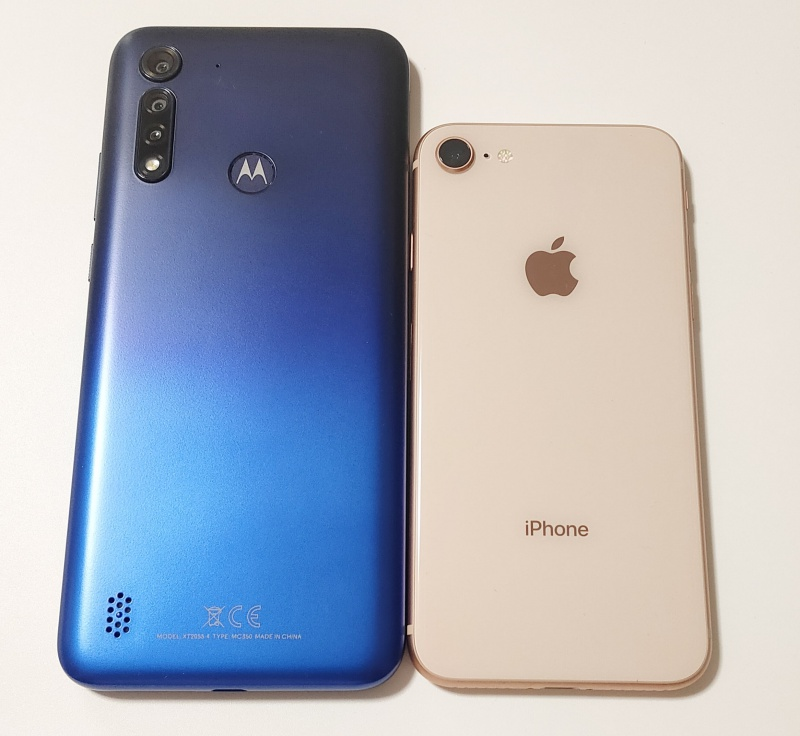 Moto G8 Power Lite iPhone 8