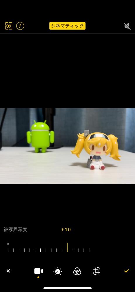 iPhone 13 mini シネマティックモード